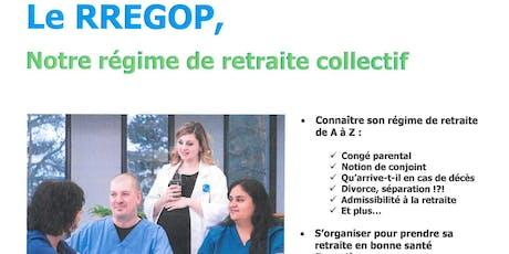 Séance d'information sur le RREGOP tickets