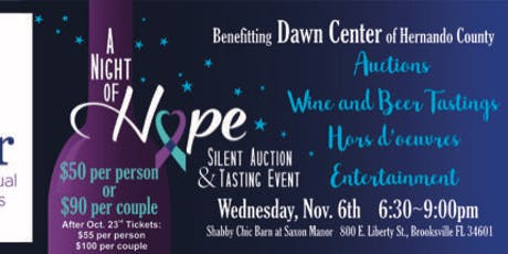 A Night of Hope for Dawn Center tickets