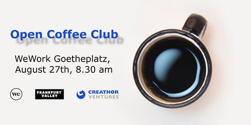 Open Coffee Club (OCC) Frankfurt - August edition