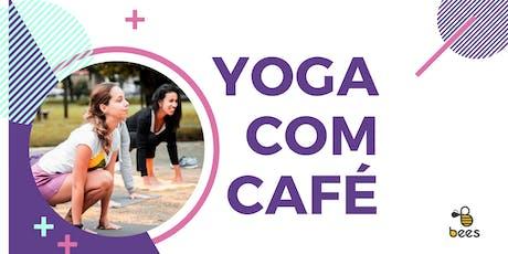 Yoga com café tickets