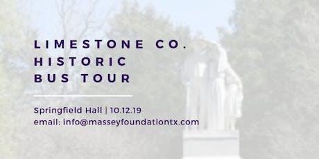 Limestone County Historic Bus Tour tickets
