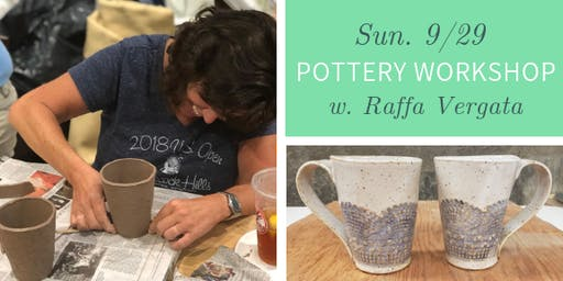 Pottery Workshop @ Nest on Main - Sun., 9/29