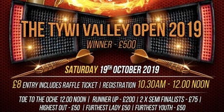 The Tywi Valley Darts Open 2019 tickets