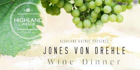 Jones von Drehle Wine Dinner tickets