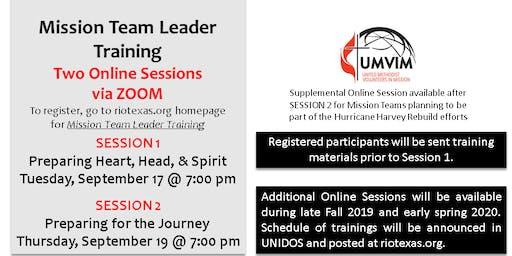 Mission Team Leader Training (September 2019)