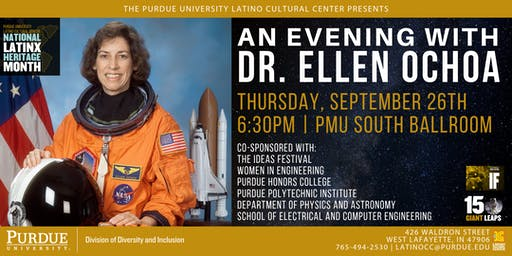 An Evening with Dr. Ellen Ochoa: NASA Astronaut and First Latina in Space