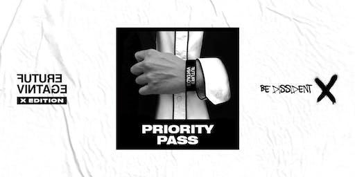 Preiscrizioni PRIORITY PASS // Future Vintage Festival 2019