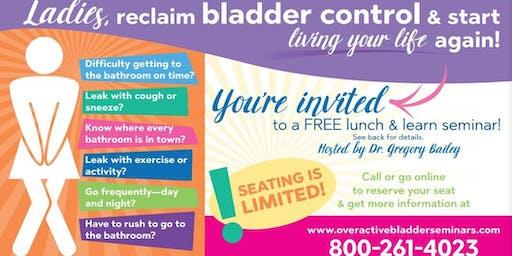Over Active Bladder Control Seminar