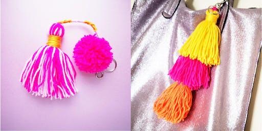 Pom Pom & Tassel bag charms - All 1 hr time slots