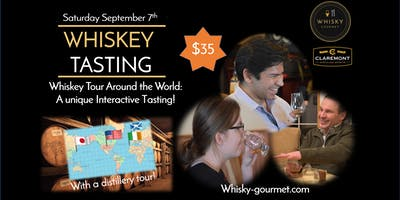 A Whiskey Tour Around the World: A unique Interactive Tasting!