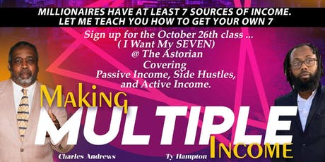 Creating Multiple Streams Of Income tickets