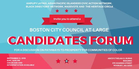 Boston City Council At-Large Candidates Forum tickets