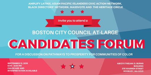 Boston City Council At-Large Candidates Forum