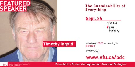 President's Dream Colloquium: Timothy Ingold tickets