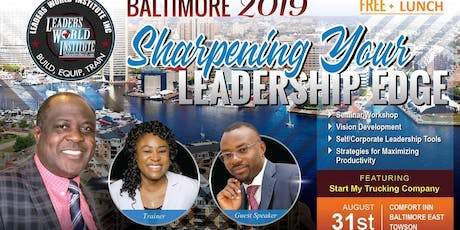 Sharpening Your Leadership Edge tickets