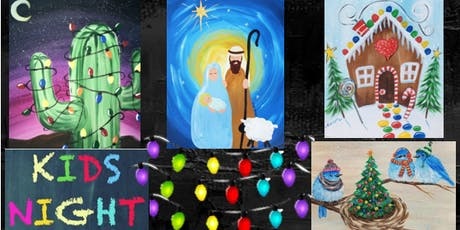 """Kids'Paint Night """"Will be adding Lights to the Canvas"""" tickets"""
