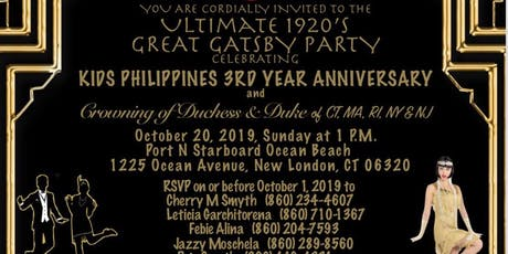 The Ultimate 1920's Great Gatsby Party celebrating Kids Philippines 3rd Anniversary  tickets
