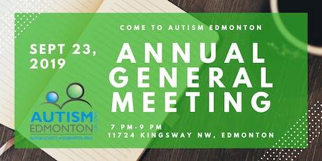 Autism Edmonton Annual General Meeting tickets