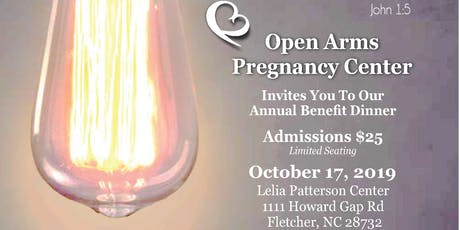 Open Arms Pregnancy Center Annual Benefit Dinner tickets