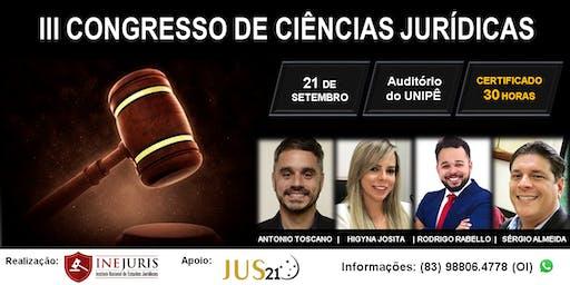 III Congresso de Ciências Jurídicas- JOÃO PESSOA