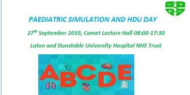 Paediatric Simulation and HDU study day