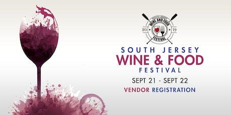 2019 South Jersey Wine & Food Festival Vendor Registration tickets