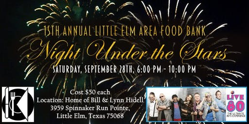 Little Elm Area Food Bank Night Under the Stars