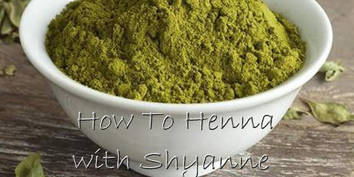 How To Henna with Shyanne at the Healing Hands, Fall Semester