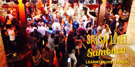 Free Salsa & Bachata Party with Live Music by Salmerun @ Sambuca 09/26