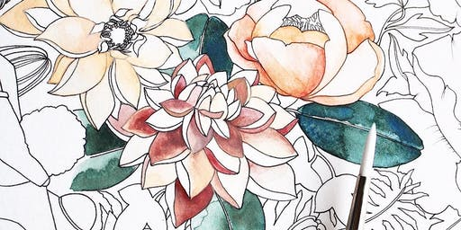 Watercolor at the Flower Farm
