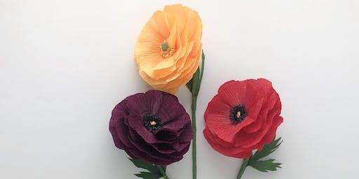 Creating Floral Art: Crepe Paper Ranunculus
