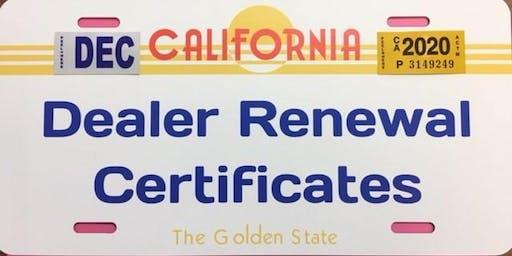 Dealer License Continuing Education Course - Modesto