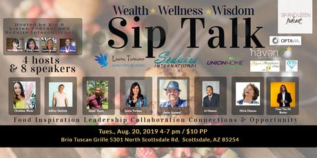 Sip Talk - Inspiration, Education, Ideas, Networking, New Connections and Lots of Fun! tickets