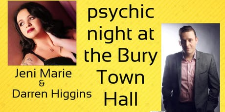 Psychic Night At The Bury Town Hall  tickets