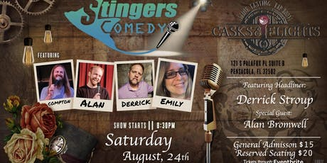 Stingers Comedy at Casks & Flights tickets