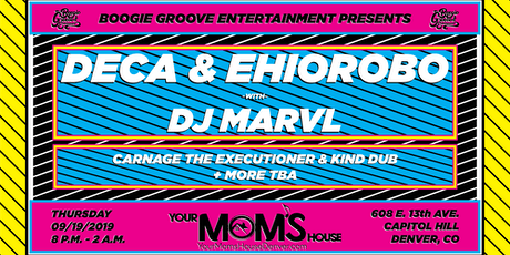 Deca & Ehiorobo w/ Carnage The Executioner & Kind Dub at YMH tickets