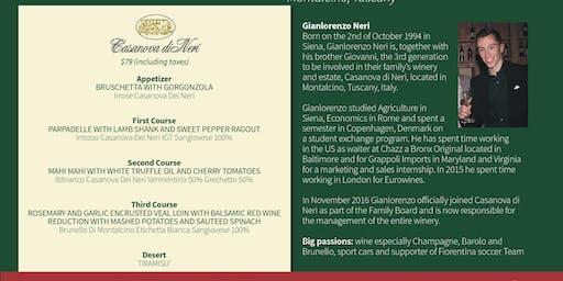 Wine Dinner Featuring Casanova di Neri Winery