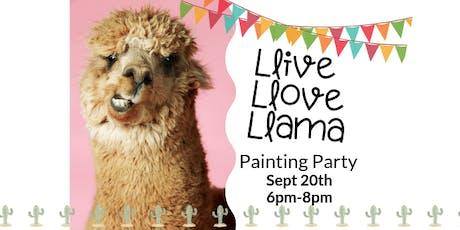 Llive Llove Llama Event - Sept 20 tickets