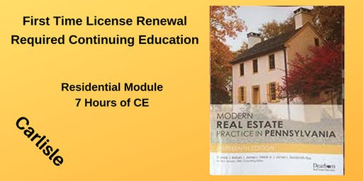 CE - Required Residential Module for First Time Renewal
