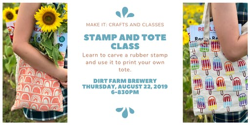 Stamp Making and Tote Printing Workshop
