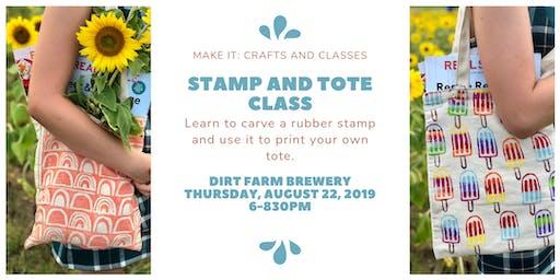 Stamp Making and Tote Printing Workshop