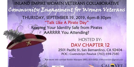 IEWVC Community Engagement for Women Veterans - Pirate Day tickets