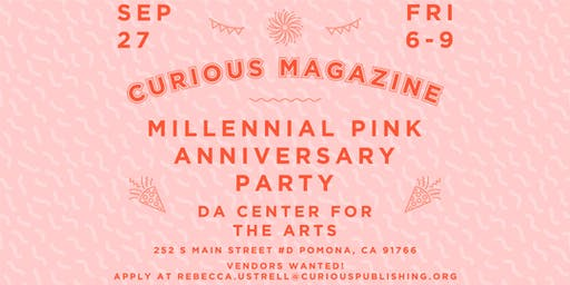 "CURIOUS Magazine Vol.2 Issue No.1 ""Millennial Pink"" Anniversary Release"