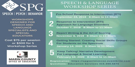Speech and Language Workshop Series