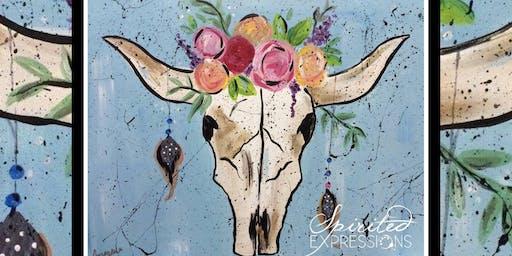 Bohemian Cow Skull