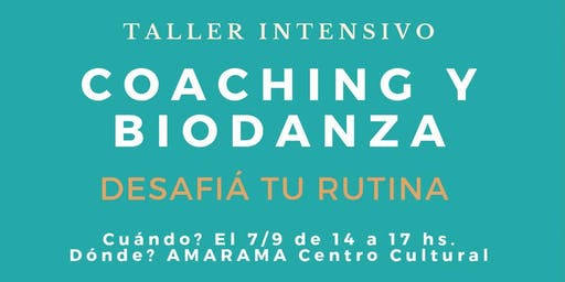 Biodanza y coaching intensivo
