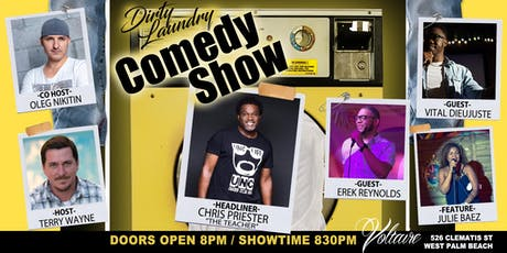 """Dirty Laundry"" Stand-Up Comedy Show @ Voltaire WPB!!! tickets"