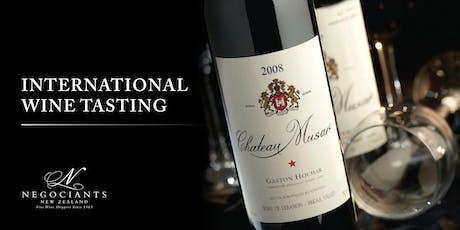 International Wine Tasting - Wellington Public tickets