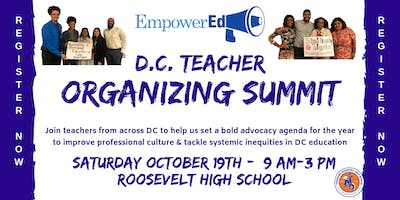 DC Teacher Organizing Summit!