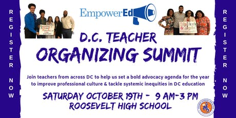 DC Teacher Organizing Summit! tickets